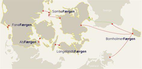 Routen der Reederei Faergen - Bildquelle: Faergen