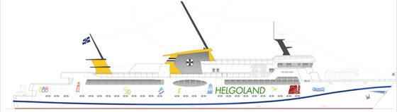 Entwurf des neuen Seebäderschiffes - Bildquelle: Classen Eils