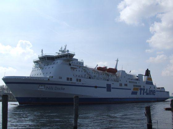 Nils Dacke der Reederei TT-Line in Travemünde - Bildquelle: Fähren-Aktuell/Marcel Brech
