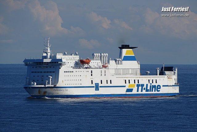 Fähre Huckleberry Finn der Reederei TT-Line - Bildquelle: Just Ferries www.justferries.de
