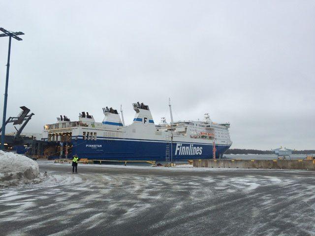 Umgebaute MS Finnstar in Helsinki - Bildquelle: Finnlines