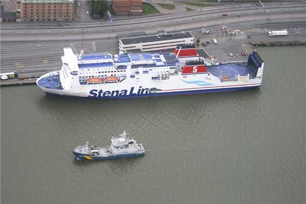 Stena Jutlandica kollidiert mit tanker vor Göteborg - Bildquelle: Kustbevakningen